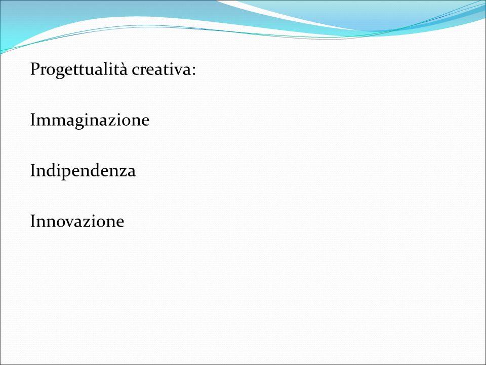 Progettualità creativa: Immaginazione Indipendenza Innovazione