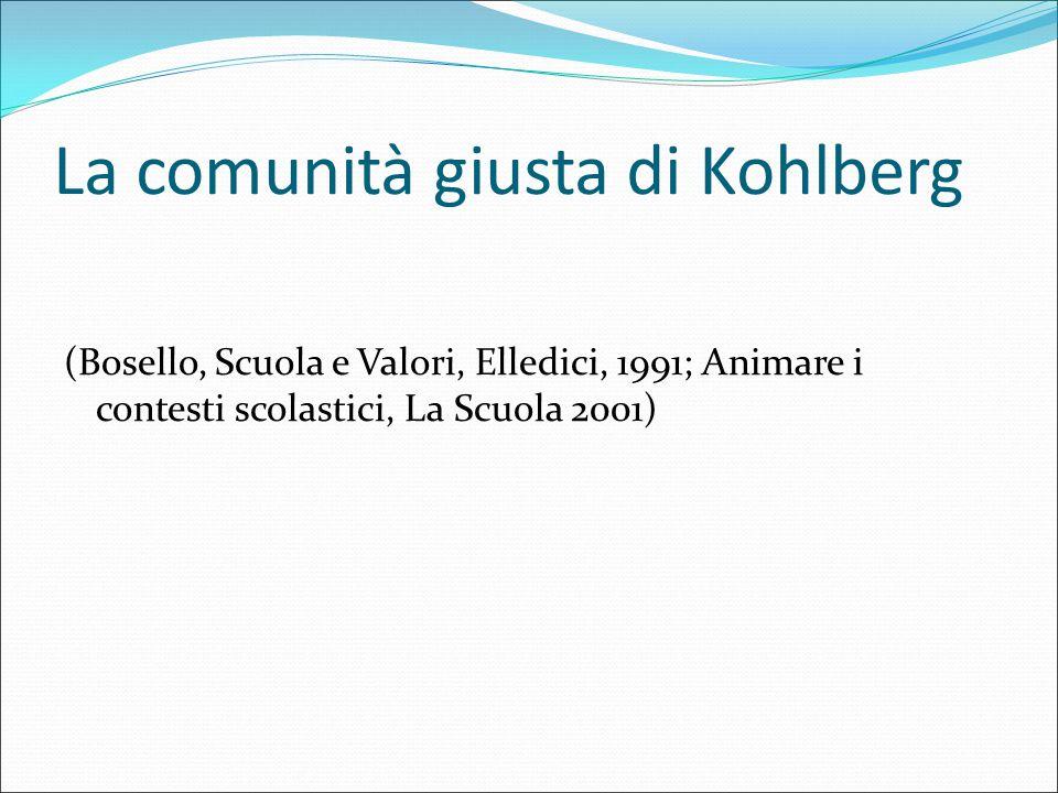 La comunità giusta di Kohlberg