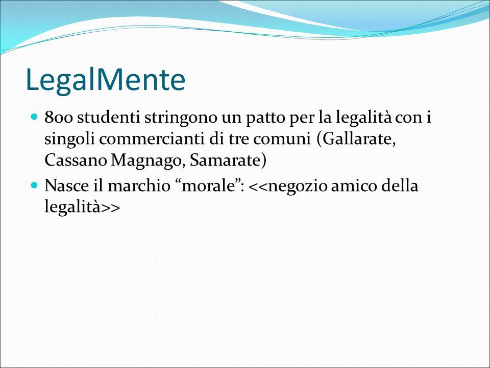 LegalMente 800 studenti stringono un patto per la legalità con i singoli commercianti di tre comuni (Gallarate, Cassano Magnago, Samarate)