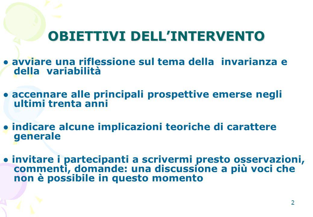 OBIETTIVI DELL'INTERVENTO