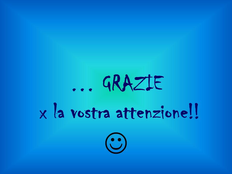 … GRAZIE x la vostra attenzione!! 