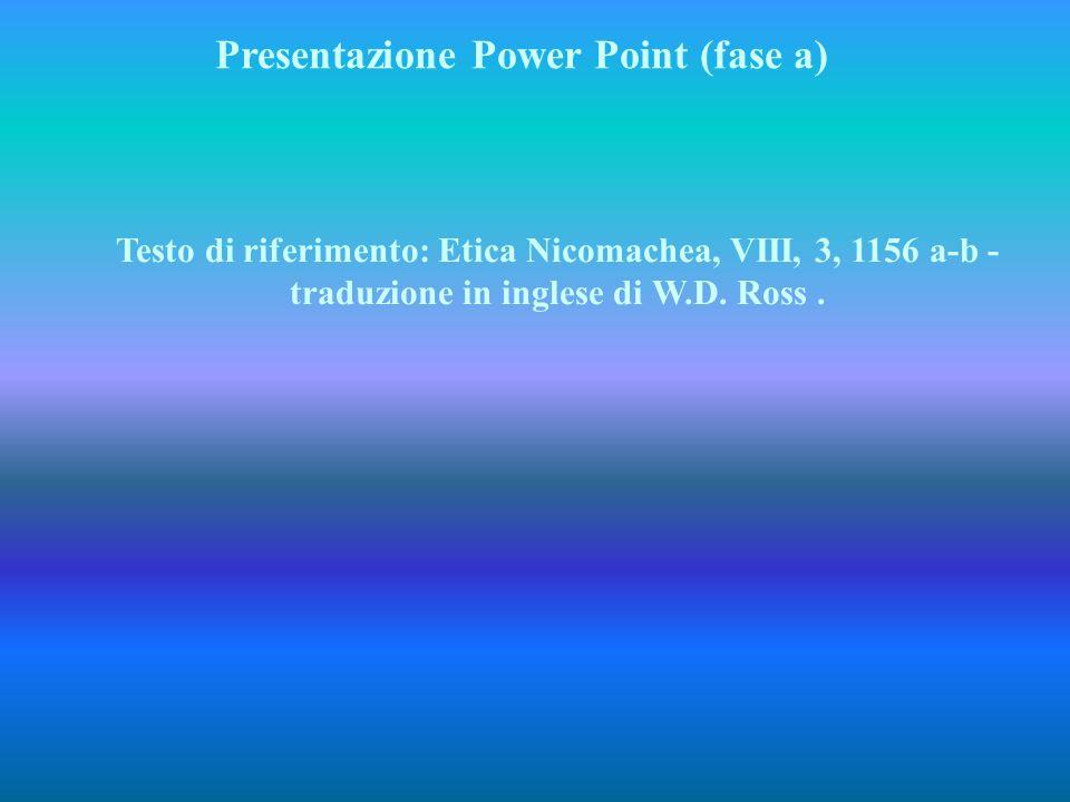 Presentazione Power Point (fase a)