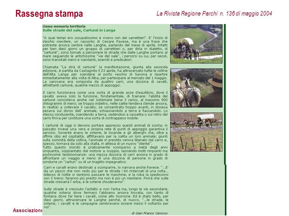 Rassegna stampa La Rivista Regione Parchi n. 136 di maggio 2004