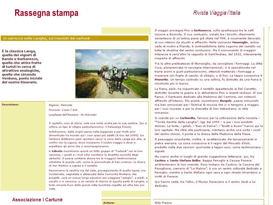 Rassegna stampa Rivista Viaggia l'Italia