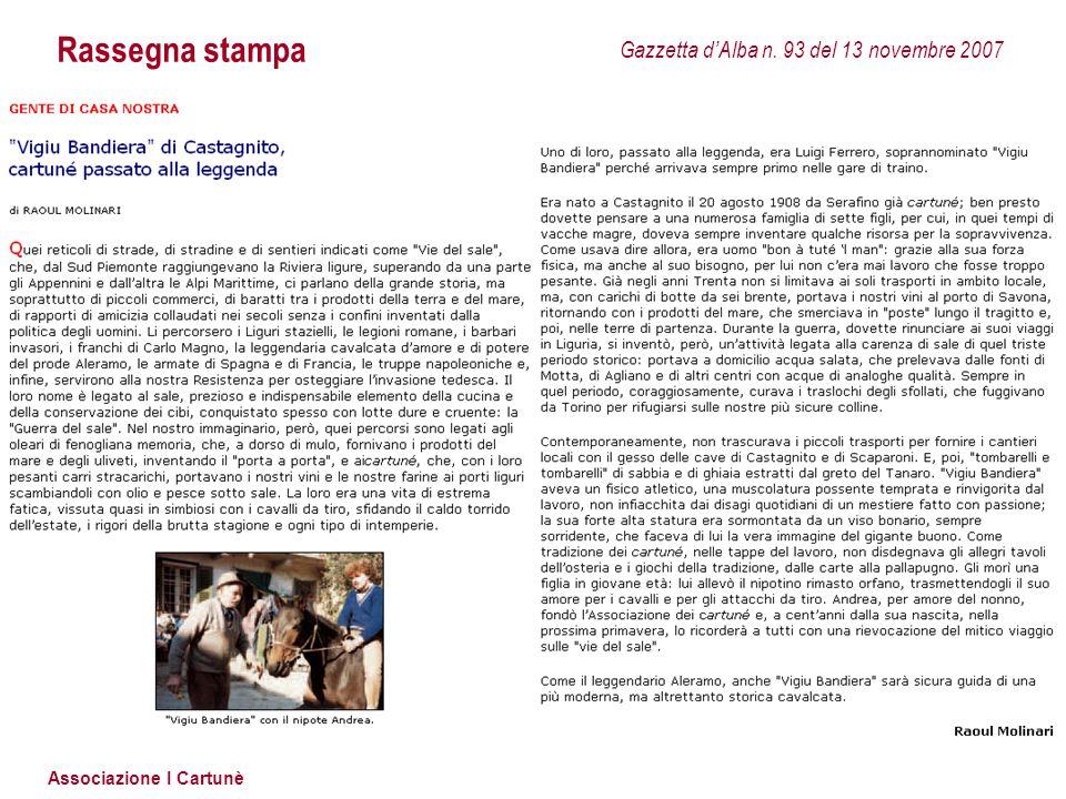 Rassegna stampa Gazzetta d'Alba n. 93 del 13 novembre 2007