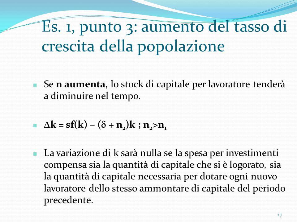Es. 1, punto 3: aumento del tasso di crescita della popolazione
