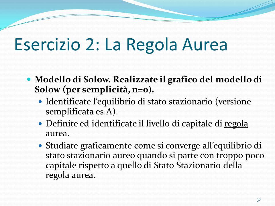 Esercizio 2: La Regola Aurea