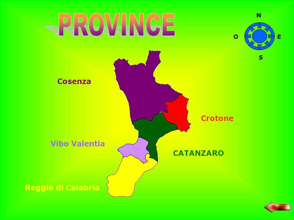 PROVINCE Cosenza Crotone Vibo Valentia CATANZARO Reggio di Calabria N