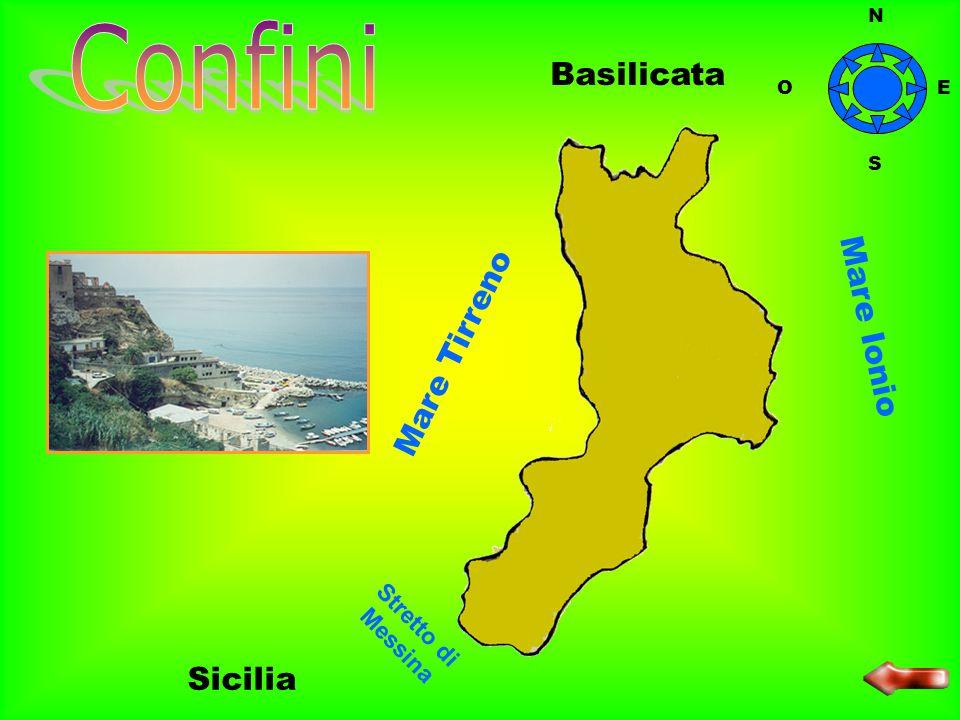 Confini Basilicata Mare Tirreno Mare Ionio Sicilia Stretto di Messina