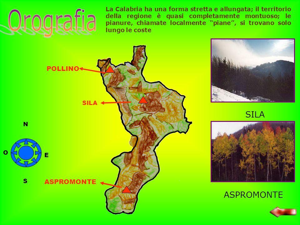 Orografia SILA ASPROMONTE POLLINO ASPROMONTE