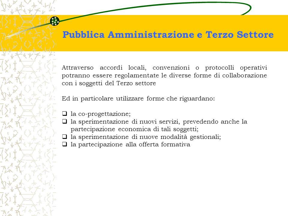 Pubblica Amministrazione e Terzo Settore