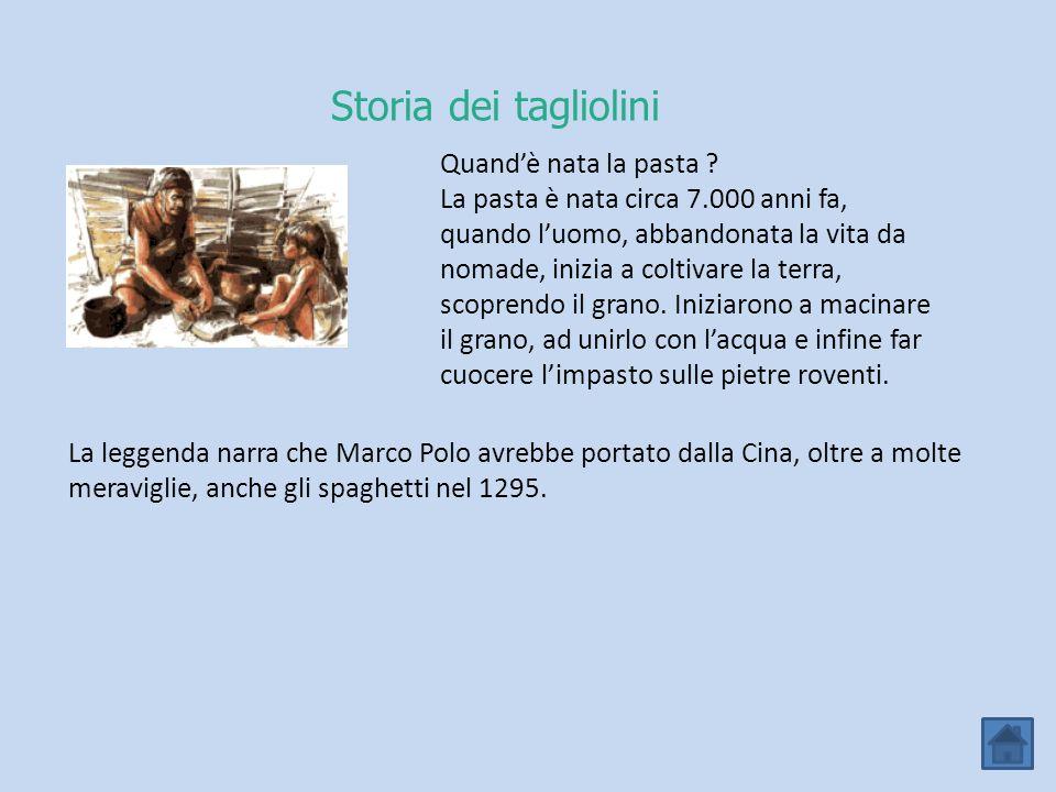 Storia dei tagliolini Quand'è nata la pasta