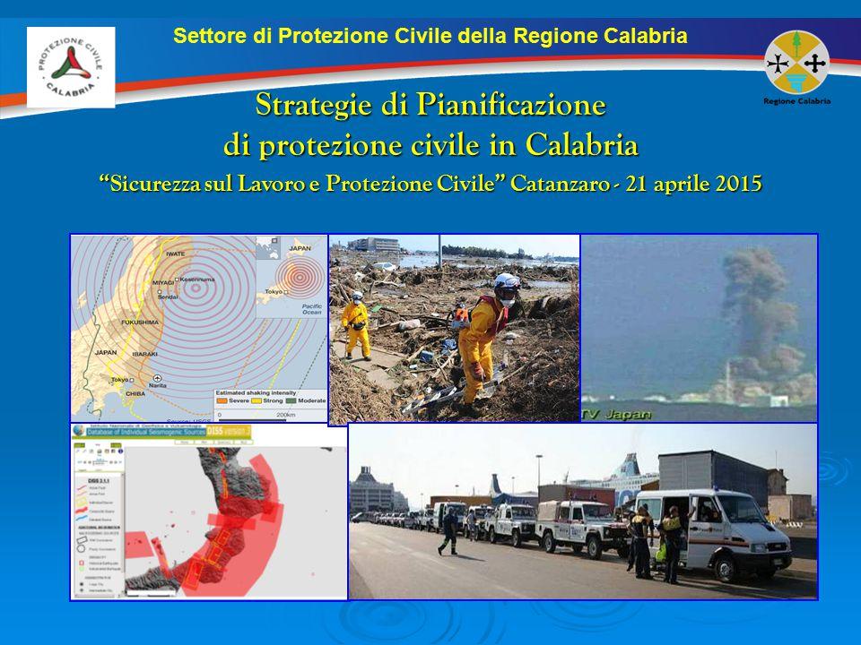 Strategie di Pianificazione di protezione civile in Calabria