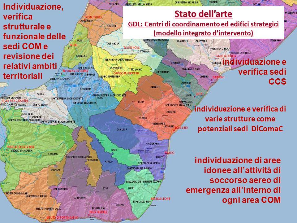 Individuazione, verifica strutturale e funzionale delle sedi COM e revisione dei relativi ambiti territoriali