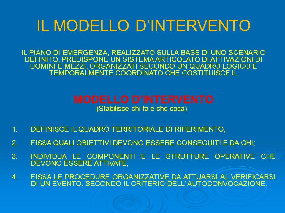 IL MODELLO D'INTERVENTO