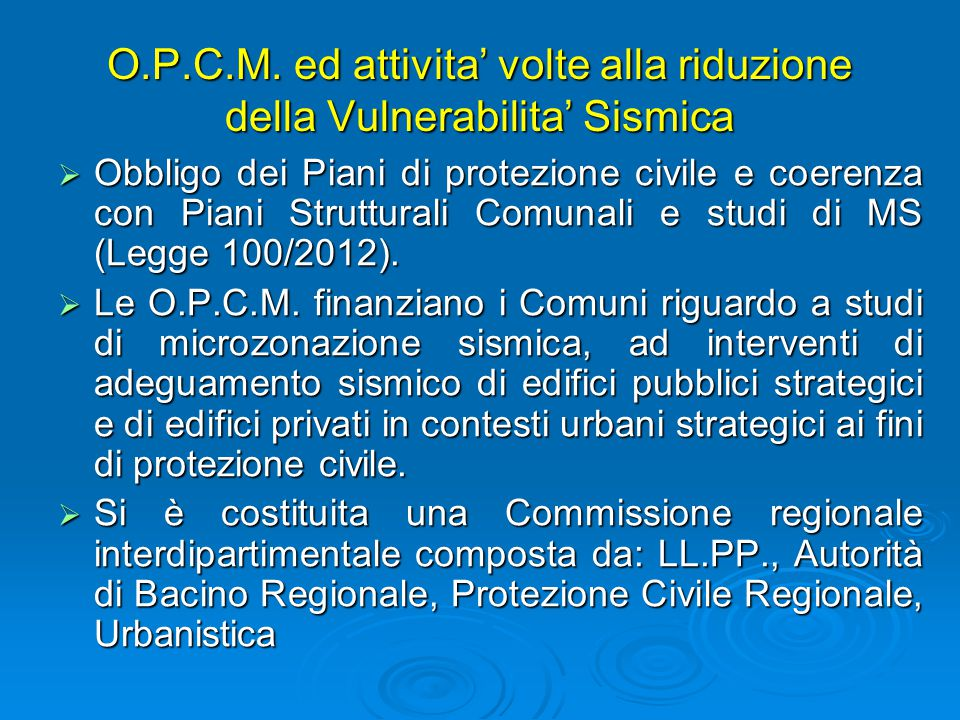 Strategie di pianificazione di protezione civile in for Piani di aggiunta di suite in legge