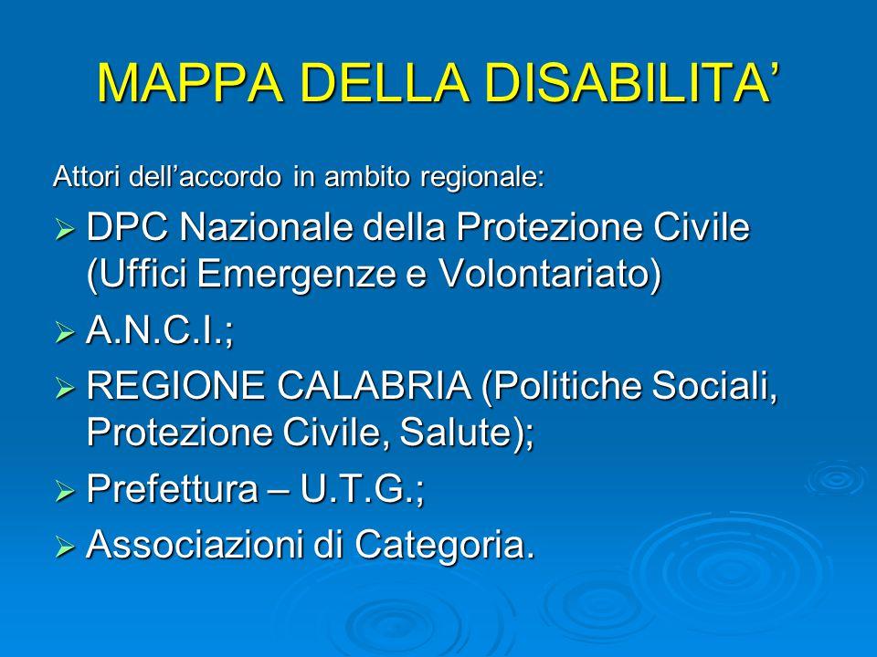 MAPPA DELLA DISABILITA'