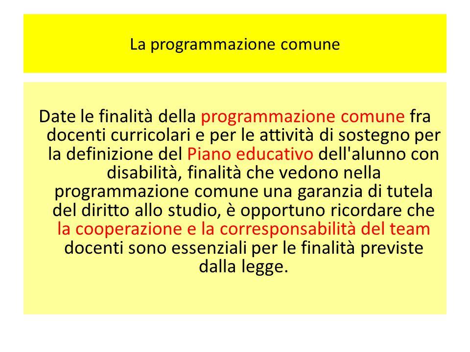 La programmazione comune