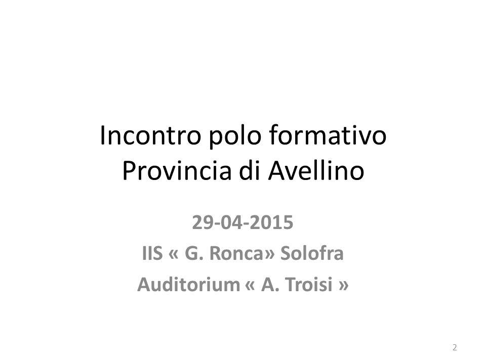 Incontro polo formativo Provincia di Avellino