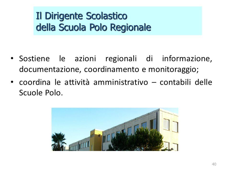 Il Dirigente Scolastico della Scuola Polo Regionale