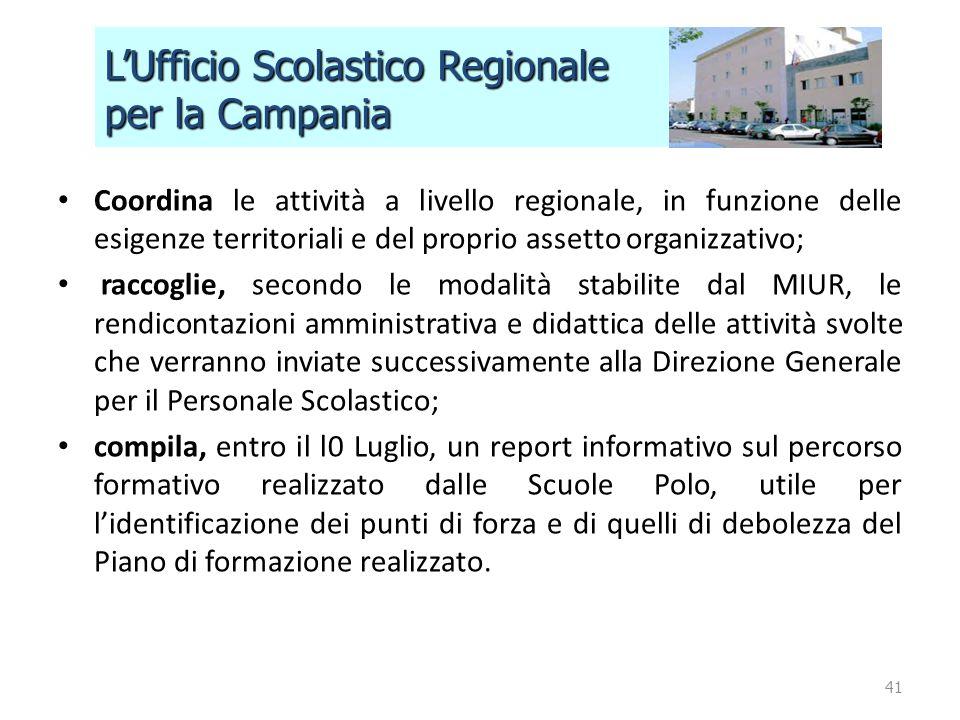 L'Ufficio Scolastico Regionale per la Campania