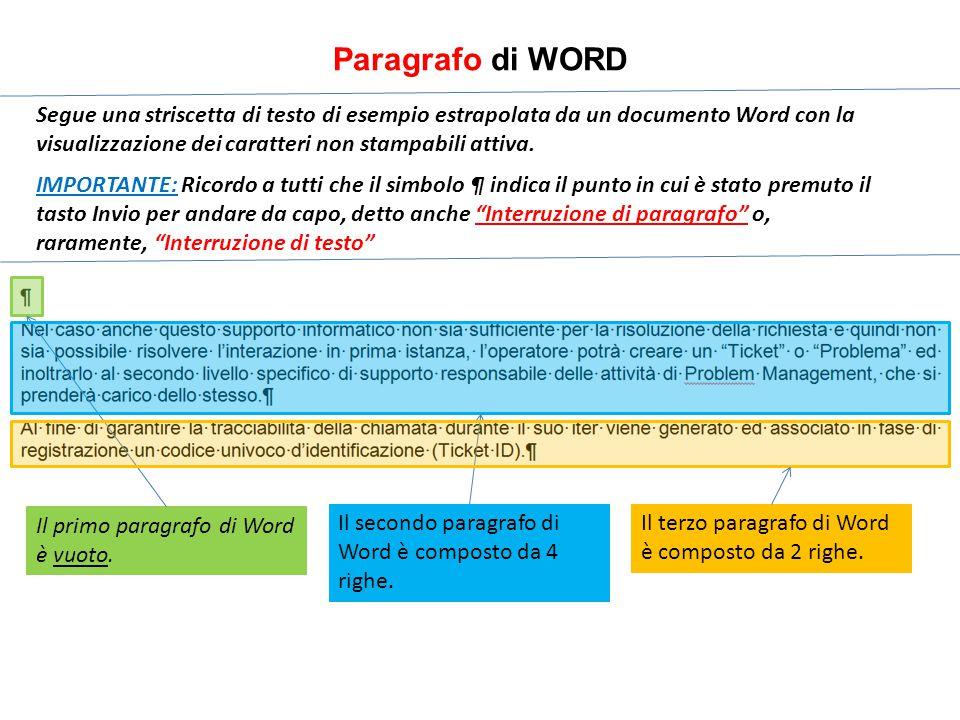 Paragrafo di WORD