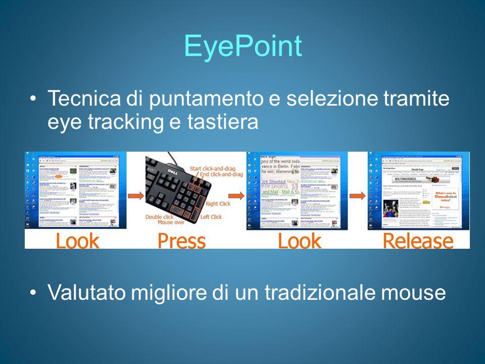 EyePoint Tecnica di puntamento e selezione tramite eye tracking e tastiera.