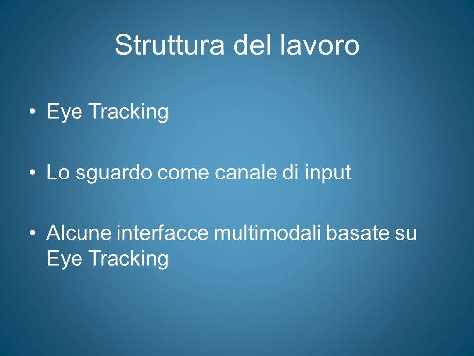 Struttura del lavoro Eye Tracking Lo sguardo come canale di input