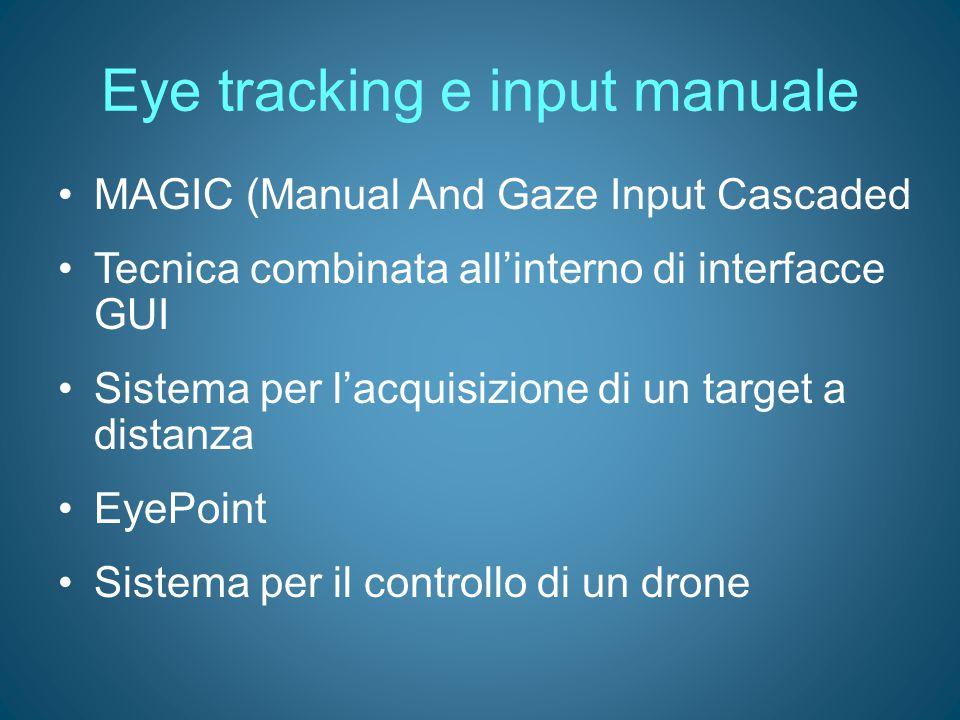 Eye tracking e input manuale