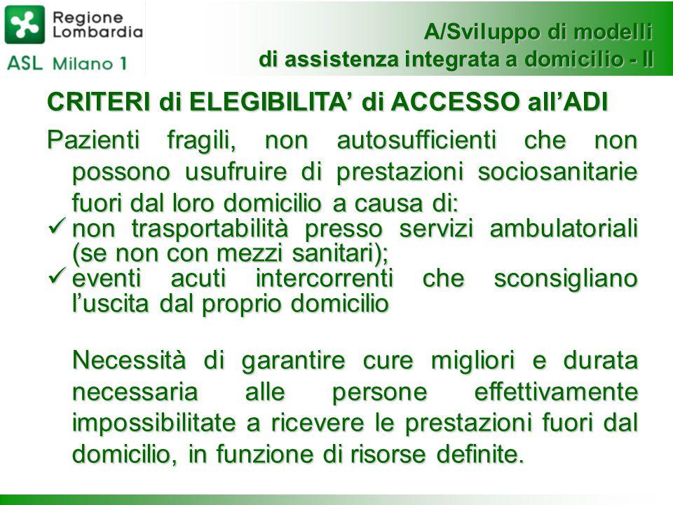 A/Sviluppo di modelli di assistenza integrata a domicilio - II