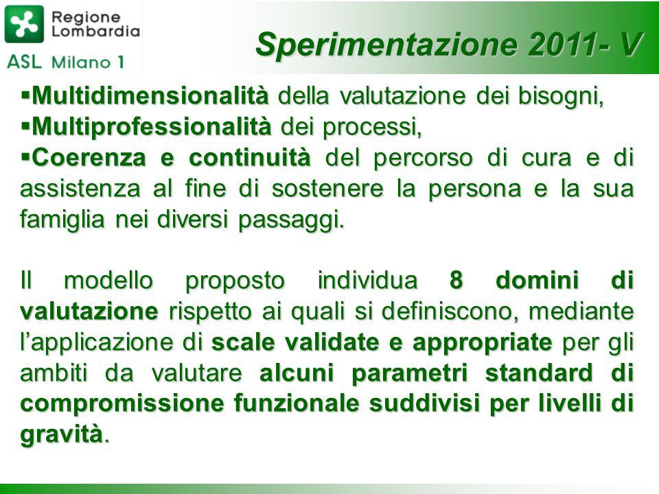 Sperimentazione 2011- V Multidimensionalità della valutazione dei bisogni, Multiprofessionalità dei processi,