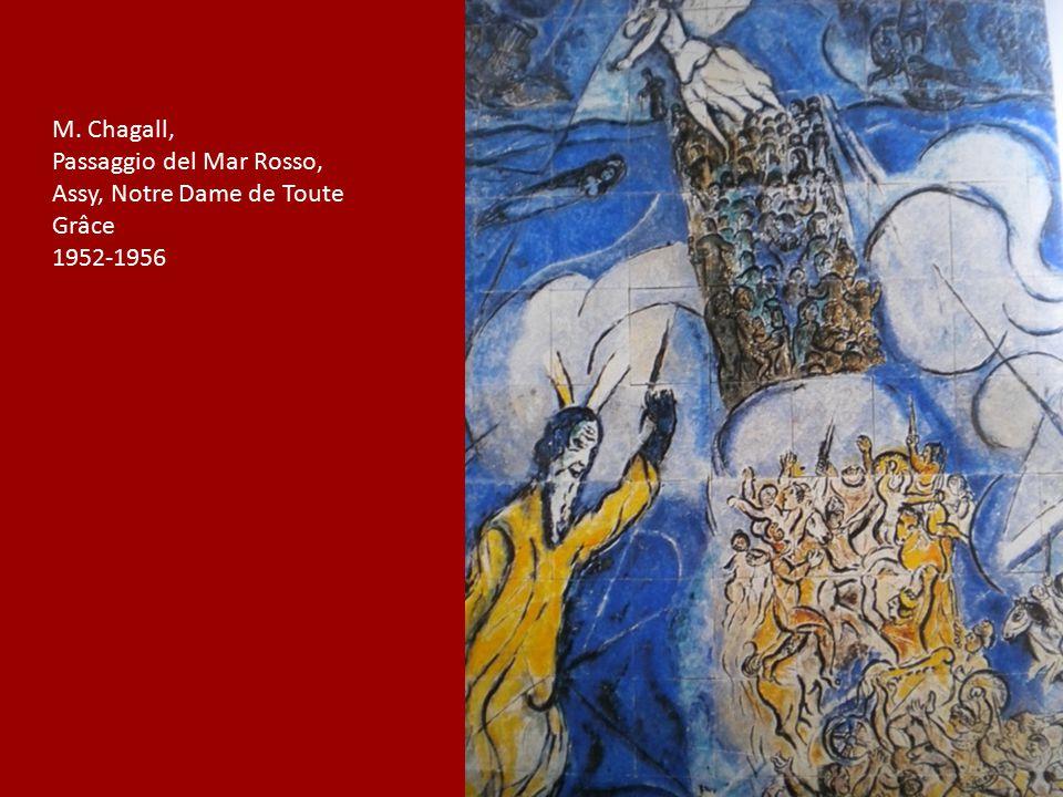 M. Chagall, Passaggio del Mar Rosso, Assy, Notre Dame de Toute Grâce 1952-1956