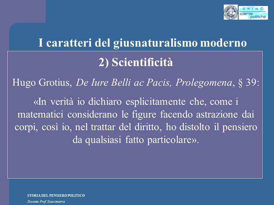 I caratteri del giusnaturalismo moderno