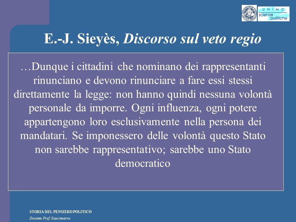 E.-J. Sieyès, Discorso sul veto regio