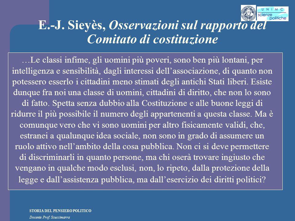 E.-J. Sieyès, Osservazioni sul rapporto del Comitato di costituzione