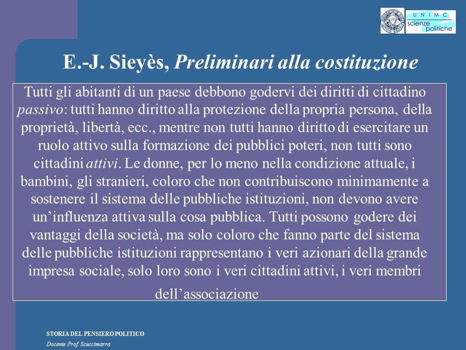 E.-J. Sieyès, Preliminari alla costituzione