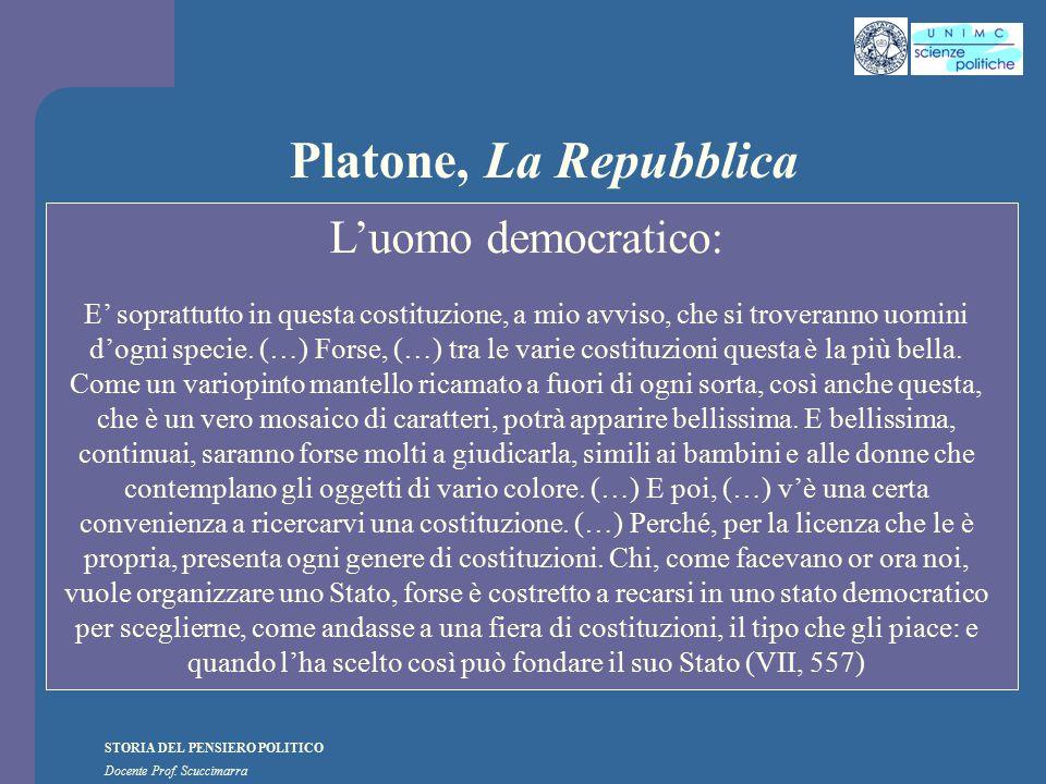 Platone, La Repubblica L'uomo democratico: