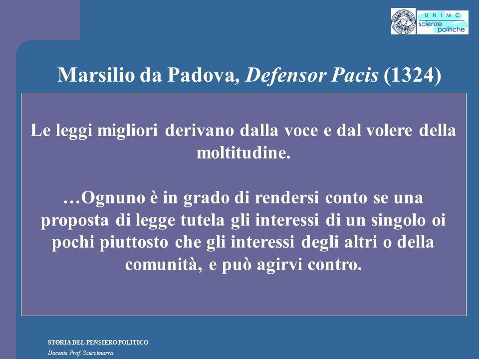 Marsilio da Padova, Defensor Pacis (1324)