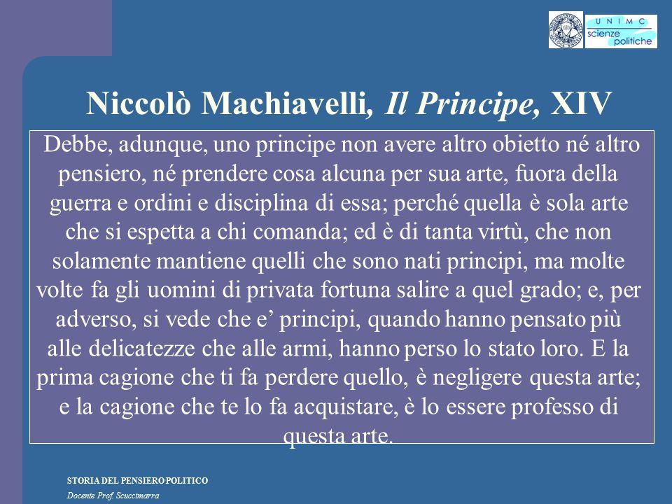 Niccolò Machiavelli, Il Principe, XIV