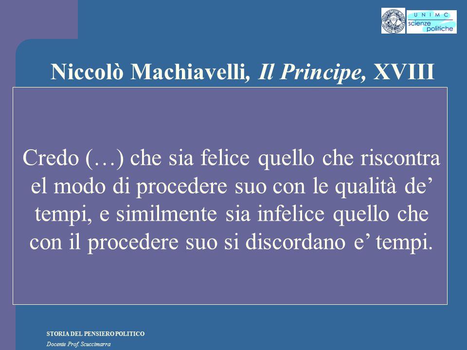Niccolò Machiavelli, Il Principe, XVIII
