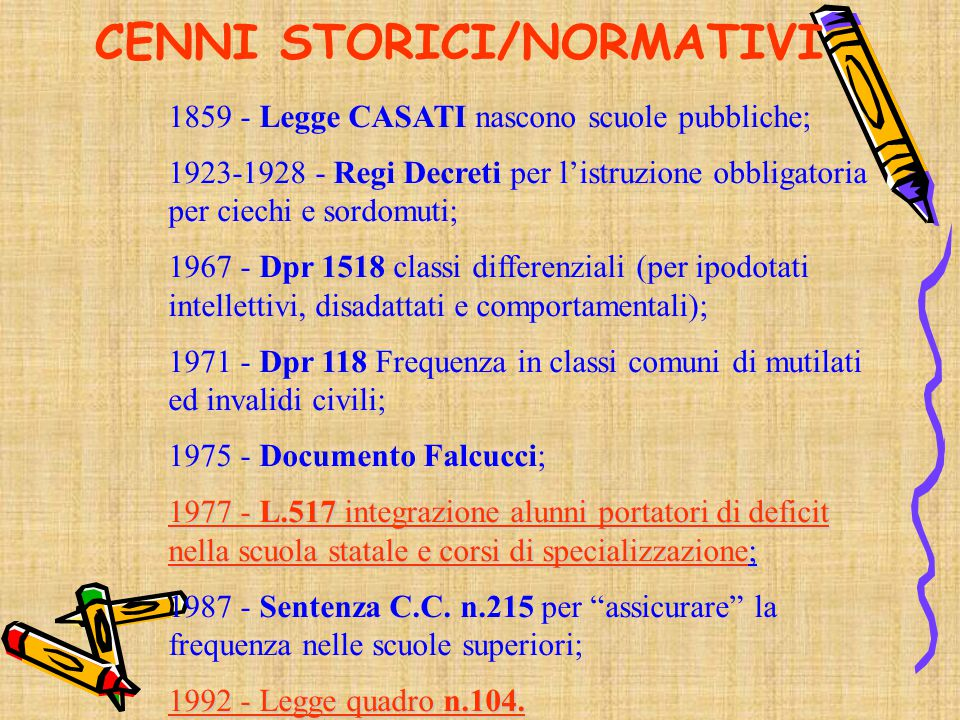 CENNI STORICI/NORMATIVI