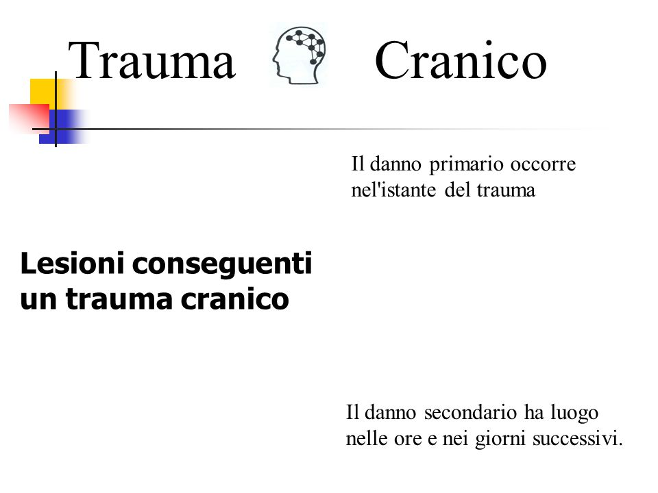 Trauma Cranico Lesioni conseguenti un trauma cranico