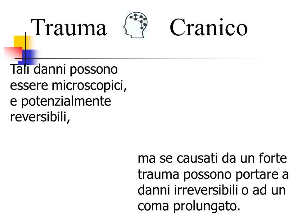 Trauma Cranico. Tali danni possono essere microscopici, e potenzialmente reversibili,
