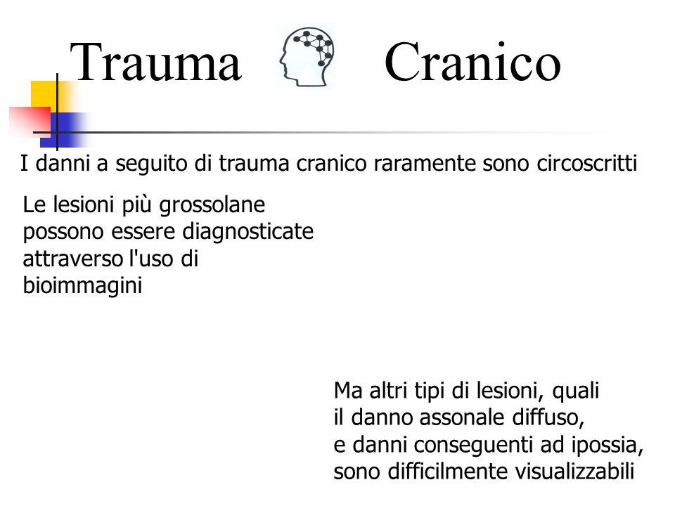 Trauma Cranico. I danni a seguito di trauma cranico raramente sono circoscritti. Le lesioni più grossolane possono essere diagnosticate.