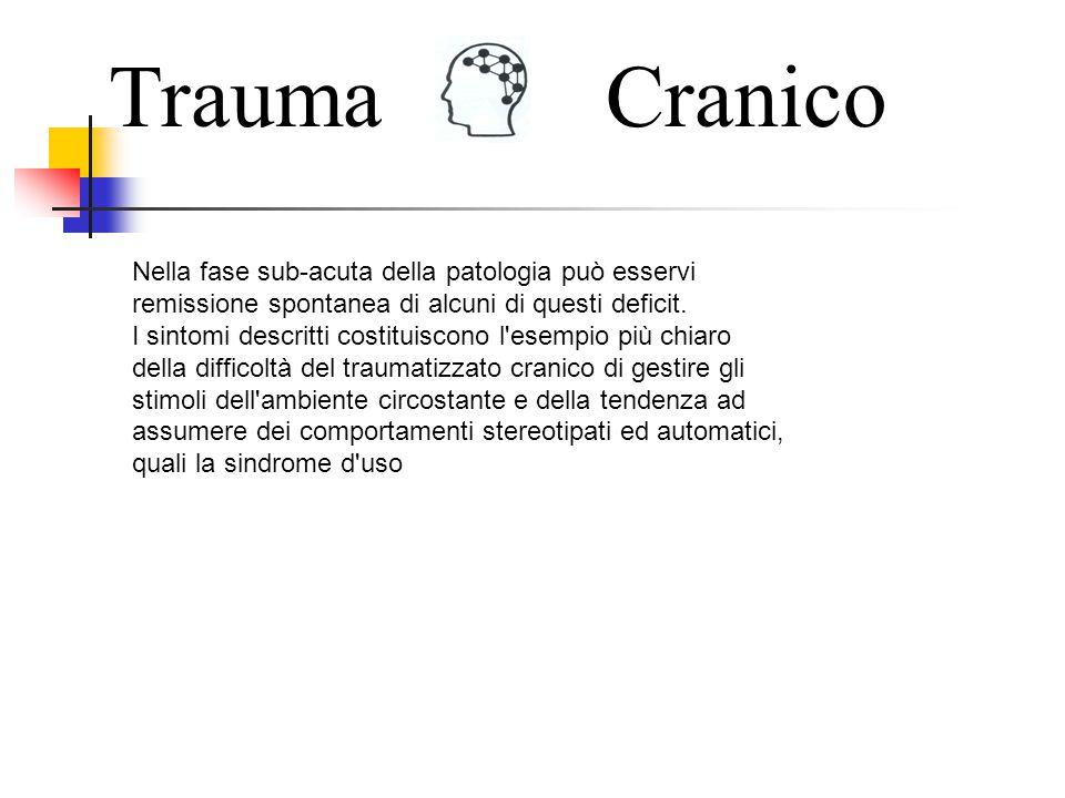 Trauma Cranico. Nella fase sub-acuta della patologia può esservi remissione spontanea di alcuni di questi deficit.