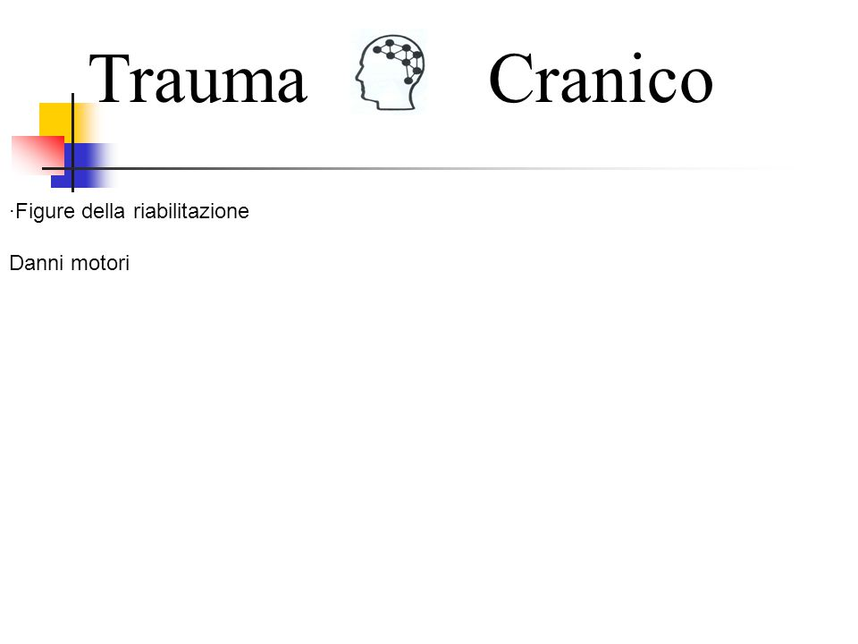 Trauma Cranico ·Figure della riabilitazione Danni motori