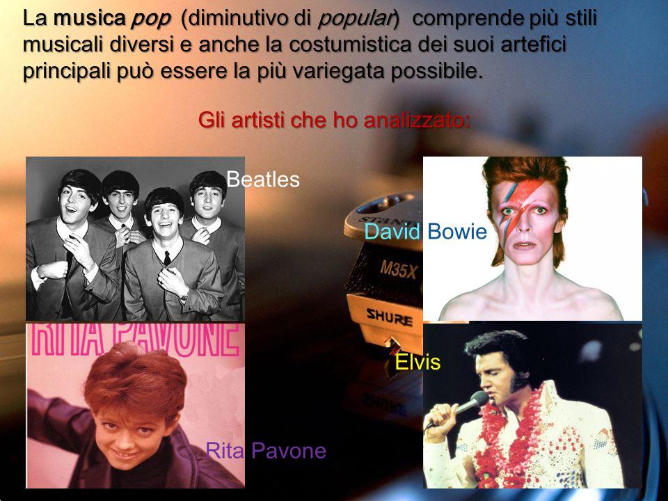 Gli artisti che ho analizzato: