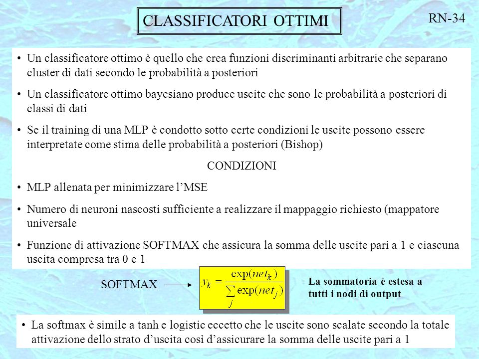CLASSIFICATORI OTTIMI