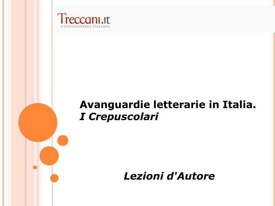 Avanguardie letterarie in Italia.