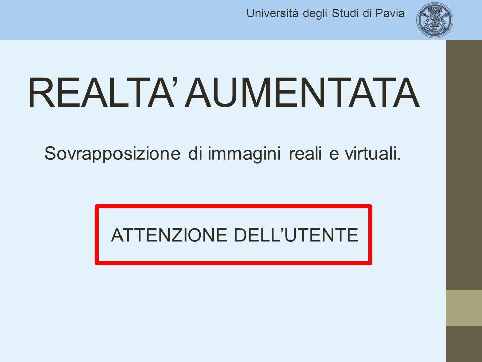 Sovrapposizione di immagini reali e virtuali.